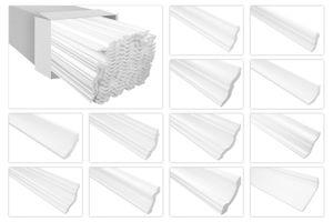 Stuckleiste leicht und weiß, XPS Styropor formfest, Marbet Serie-E Sparpakete, Typ:E-41 / 40x40mm, Menge:40 Meter / 20 Leisten