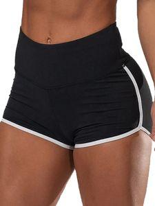 Sexydance  Women Sports Yoga Shorts Casual Jogging Lounge Beach High Waist Hot Pants Trunks,Farbe: Schwarz,Größe:XL