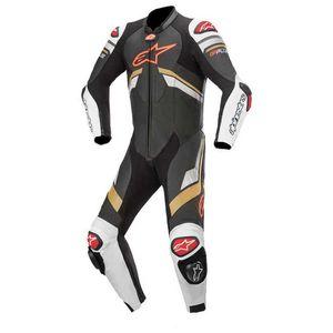 Alpinestars Gp Plus V3 Leather Black / White / Gold / Bright Red 56