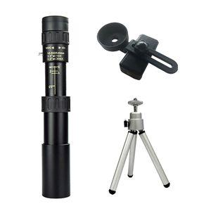 4K 10-300X40mm Super Zoom Monokulare Teleskop BAK4 Prisma für Wandern + Clip Farbe Monokular + Stativ + Clip