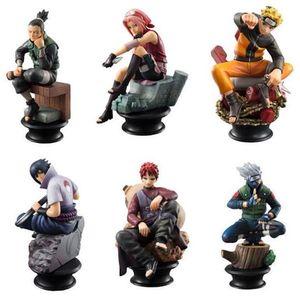 6pcs Naruto Gaara Shippuden Sasuke Schach figur Spielzeug