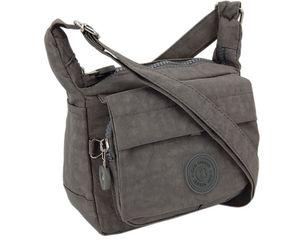 kleine Sportliche   Umhängetasche Wasserabweisende Damentasche Handtasche -  Grau