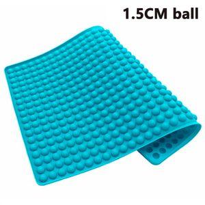 Pndwfr Silikon Backmatte 1.5cm Halbkugel Silikonmatte mit NoppenBackform für Hundekekse & Hundeleckerlies, Backpapier Backunterlage Pralinenform