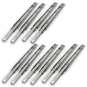 VINGO 10 Stueck Schubladenschienen Vollauszug 450 mm Schubladenauszuege mit Selbsteinzug u. Daempfung Schubladenschiene mit 35 Kg Tragkraft