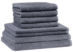 8 tlg. FROTTIER HANDTUCH-SET    Farbe: Anthrazit grau   100% Baumwolle