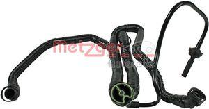 METZGER Schlauch Kurbelgehäuseentlüftung für AUDI A6 4F2 C6 A4 8EC B7 A8 4E_