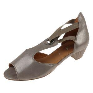 Gabor Damenschuhe Peeptoe Leder 86561-A-E, Größe Schuhe Erwachsene:41, Farbe Gabor:Koala