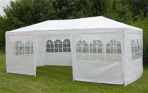 Partyzelt / Festzelt weiß 3x6m mit 8 Seitenteilen Stahl