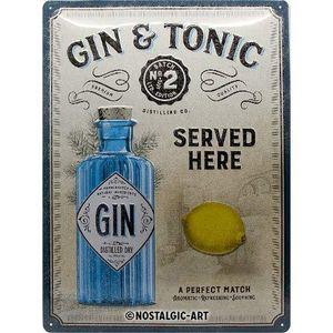 Nostalgic-Art - Blechschild Metallschild 30x40cm - Gin Tonic