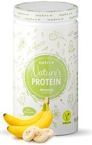 EIWEIßPULVER ohne Süßungsmittel 500g - natürliches Proteinpulver ohne Gluten, Zucker & Whey - Schoko Eiweiß - Natures Protein Pulver - vegan - laktosefrei Banane