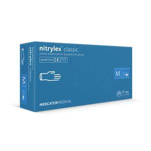 Nitrilhandschuhe Einweghandschuhe Farbe Blau MERCATOR Nitrylex, 100 Stück, Größe M