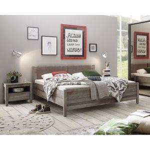 87-718-O5 RIO Driftwood Bett Doppelbett Ehebett Schlafzimmer 180 x 200 cm