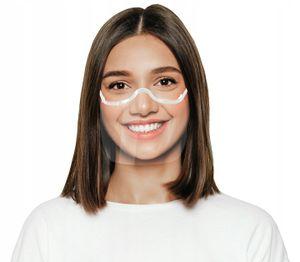 Nasen Mund Visier transparent Gesichtsmaske Gesichtsschutz Gesichtsvisier weiss