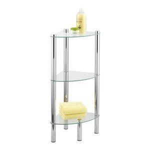 Eckregal Dusche Duschablage Duschkorb Yago 3 Glasablagen