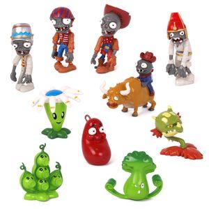 10 Stück Pflanzen Zombie Peashooter Figur Spielzeug Modell
