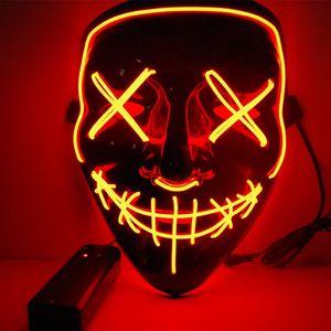 LED Purge Maske als Kostüm Halloween mit Lichteffekten Helloween Party
