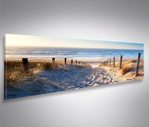 Bild Bilder auf Leinwand Weg zum Meer Dünen Panorama  - XXL Eyecatcher von islandburner Poster Leinwandbild Wandbild