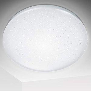 Wolketon 16W LED Deckenlampe  Deckenleuchte Wohnzimmer Badleuchte Starlight Weiss