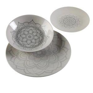 Geschirr-Set Mandalas Porzellan (18 Stücke)