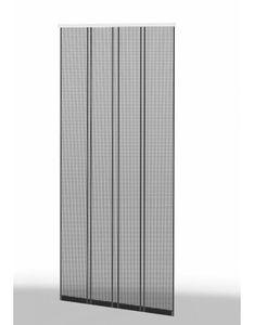 Klemm Lamellenvorhang 100x220cm Profil braun Lamelle antrazit 101430102-VH