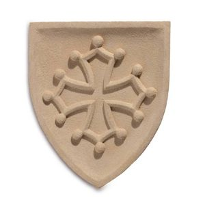 Mittelalter Wandbild Wappen Okzitanien
