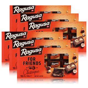 Ragusa for Friends Classique - Schokolade mit Praliné-Füllung 132g (6er Pack)