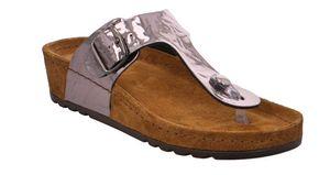 Rohde Riesa 5832 Damen Sandale Sandalette Zehentrenner 88 Altsilber Crackle, Größe:EUR 38