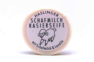 Haslinger milde Schafmilch Rasierseife mit Bio Schafmilch & Lanolin 60 g