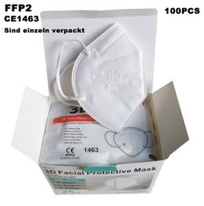 Meiyi 100 Stück FFP2 Maske  Mundschutzmaske / Mund-Nasenschutz Masken Atemschutzmaske mit CE1463