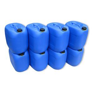 8 x 30 Liter Kanister Wasserkanister Campingkanister Farbe blau lebensmittelecht (8x30knb)