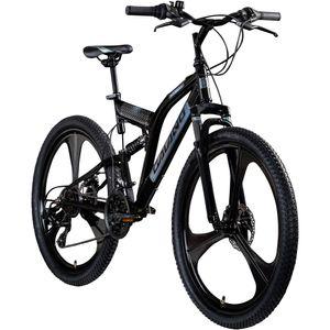 Galano FS260 26 Zoll Mountainbike Fully MTB Fahrrad 26' Full Suspension Mountain Bike, Farbe:schwarz, Rahmengröße:47 cm