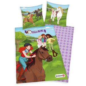 Schleich Horse Club - Flanell Kinder-Bettwäsche-Set von Herding, 135x200 & 80x80 cm