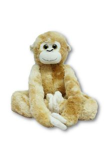 Plüschtier Affe hellbraun 80 cm mit Kletthänden Kuscheltier