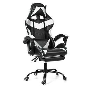 Meco Bürostuhl Drehstuhl Schreibtischstuhl Gaming-Stuhl 150 Grad liegend mit Fußstütze Bürosessel Ergonomisch gestaltet Farbe: Weiß UK Lager