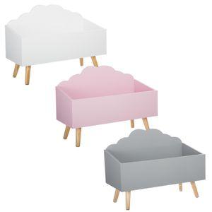 Aufbewahrungskiste, Spielzeugkiste - 58 x 28 x 45 cm, Farbe:weiß