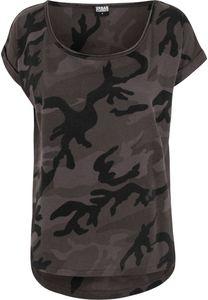 Urban Classics Damen Ladies Camo Back Shaped Tee TB1635, color:dark camo, size:XL