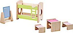 HABA 303836 - Little Friends  Puppenhaus-Möbel Kinderzimmer für Geschwister