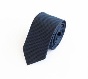 Schlips Krawatte Krawatten Binder 6cm schwarz blau kariert Fabio Farini