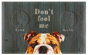 Napfunterlage Hund Katze Futtermatte 49 x 79 cm Fressnapf Unterlage Don't fool