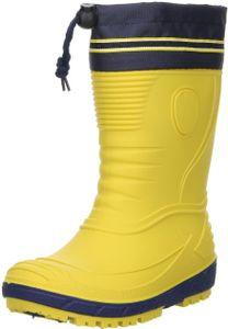 G&G Kinder Mädchen Jungen wasserdichte Gummistiefel Regenschuhe Nitrilgummi gelb, Größe:31, Farbe:Gelb