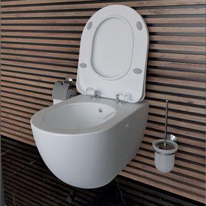 FREE Wand WC mit Bidetfunktion spülrandlos und Take Off Deckel, weiß