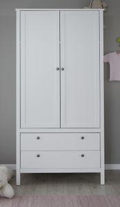 Kinder- und Jugendzimmer Kleiderschrank Ole in weiß Landhaus 2-türig 91 x 192 cm - Trendteam 183961201