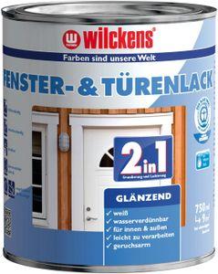 2in1 Türen und Fensterlack weiss inkl. Pinsel von E-Com24 zum Auftragen (2 in 1 375 ml glänzend)