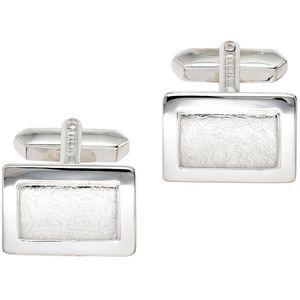 Manschettenknöpfe Manschettenknopf silber 925 Sterling Silber teileismatt
