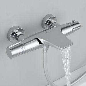 Wannenarmatur Thermostat Wasserfall Wannenthermostat Badewannenarmatur Mischbatterie Duscharmatur Armatur Bad Messing