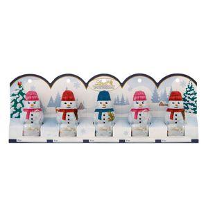 Lindt Mini Schneemänner Figuren aus Alpenvollmilchschokolade 50g