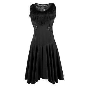 Damen Latein Tanzkostüme Tanzkleid Partykleid Fransenkleid L