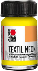 """Marabu Textilfarbe """"Textil Neon"""" neon-gelb 15 ml auf Wasserbasis"""