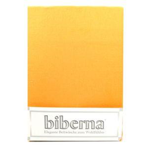 Biberna 02744-530-040 Feinbiber Spannbetttuch Maisgelb 90x190 100x200