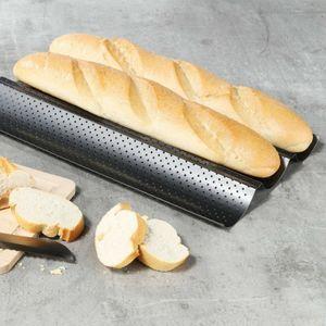 Baguette Baguetteform Blech für 3 Baguettes antihaft beschichtet Baguetteblech